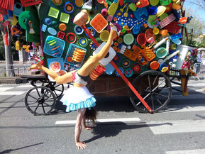 Chars et habillage de structures pour parade de rue, carnaval et arts vivants
