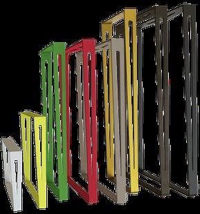 Tailles et coloris pour pied de table rectangulaire ElYa