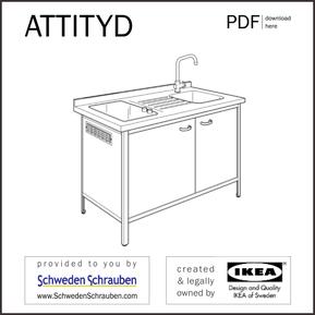 ATTITYD Anleitung manual IKEA Mini Küche