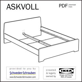 ASKVOLL Anleitung manual IKEA Bettgestell