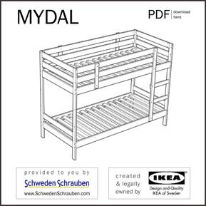 MYDAL Anleitung manual IKEA Kinderbett
