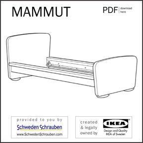 MAMMUT Anleitung manual IKEA Kinderbett