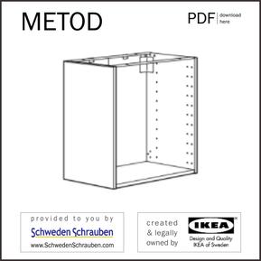 METOD Anleitung manual IKEA Küchenschrank