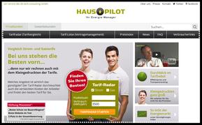 Screenshot Energieportal HausPilot (Quelle: hauspilot.de)