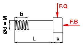 Schraube DIN 4762 mit Belastung