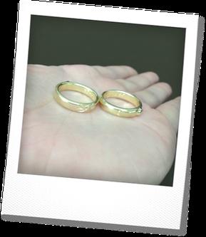 キャスト(鋳造)後の結婚指輪