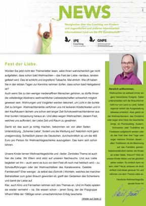 "Themenletter Dezember 17 ""Fest der Liebe"""
