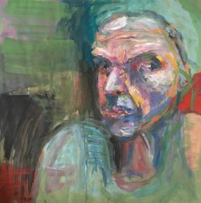 Selbstportrait, Acryl auf Papier, 2017