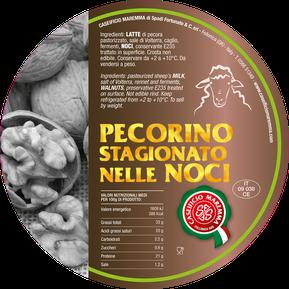 maremma pecorino pecora formaggio caseificio toscano toscana spadi follonica etichetta italiano origine latte italia nuovi sapori saporito affinato stagionato noci noce