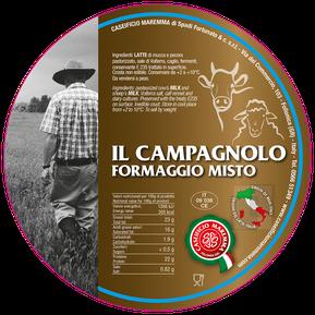 maremma misto mucca pecora formaggio caseificio toscano toscana spadi follonica etichetta italiano origine latte italia campagnolo fresco vacca bovino