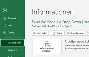wer hat als letztes in Excel gespeichert