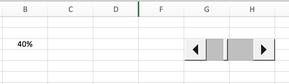 Excel Scrollbar einfügen Prozentbalken