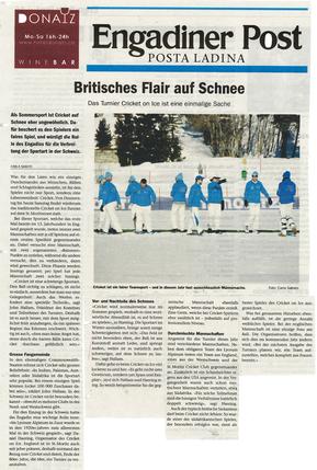 Britisches Flair auf Schnee - Engadiner Post (29.2.2016)