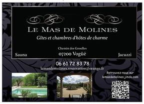 Carte cadeau du Mas de Molines à Vogüé