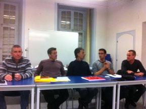 Le bureau: g à d Bernard, Pascal, J-Claude, Thierry, Philippe