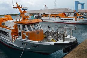 ドリーム観光が来年4月から定期船を休止する=21日、離島ターミナル桟橋