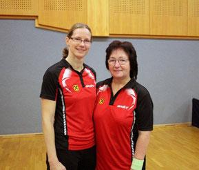 Martina Wilder und Eva Graser spielten erstmals in der Damen Liga des NÖTTV. Foto: TTV Wiener Neudorf