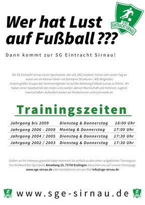 Fyler Jugendfussball SG Eintracht Sirnau