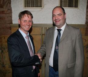 Pastpräsident Gerald Schlager und Präsident Günther Wildfellner