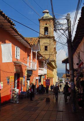In der Altstadt von Zipaquira.