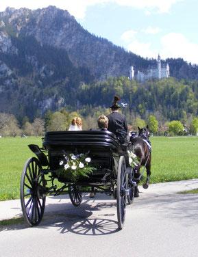 Kutschfahrt zum Schloss Neuschwanstein
