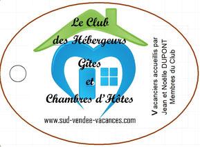 Porte clés Pass Partenaires à récupérer lors de votre séjour chez l'un des hébergeurs partenaires Sud-Vendée Vacances