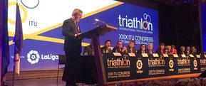 IOC Präsident Thomas Bach als Ehrengast hielt eine Ansprache