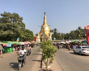 Stadtzentrum von Bago