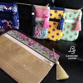 タッセル付きのお財布ショルダーバッグ-お財布ショルダーバッグ専門店Lavender sachet*ラベンダーサシェ