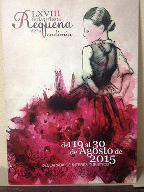 Cartel de la Feria y Fiesta de la Vendimia en Requena 2015