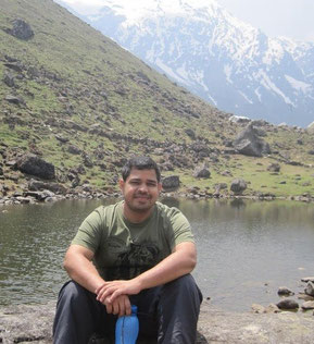 Alok on location in the Uttarakand