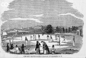 Una partita di cricket presso Harlem, New York (1851)