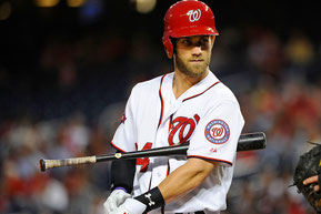 Nella foto Bryce Harper, con 42 Home Runs è stato il leader nella National League (Brad Mills-USA TODAY Sports)