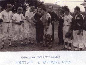 Finalissima del Campionato Italiano 1 Novembre 1953