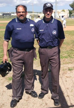 I due umpire da sin. Tommaso Ferramosca  e Mauro Lezzi