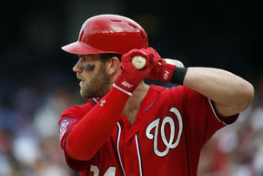 Nella foto Bryce Harper (Alex Brandon/Associated Press)