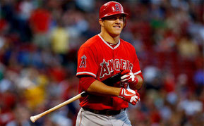 Nella foto Mike Trout, miglior OPS (991) in American League ((Jared Wickerham / Getty images)