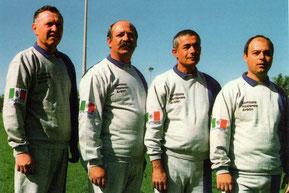 Nella foto gli istruttori di softball : Bertoldo, Dodde, Tempesta, Borgia