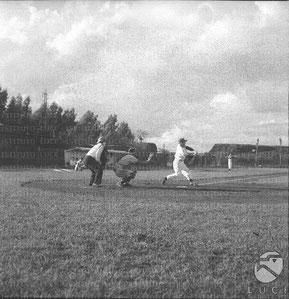 Una partita al campo Acqua Acetosa nel 1959 tra Limonappia e Parma (Foto Luce)