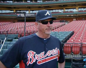 Nella foto Greg Walker, hitting coach dei Braves