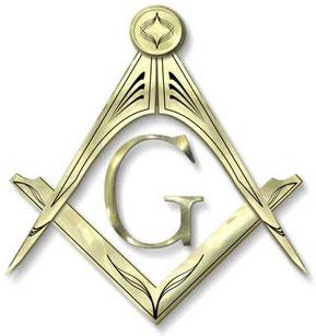 """Il simbolo che rappresenta la massoneria è la squadra e il compasso con la lettera """"G"""" in inglese God (Dio) nel mezzo"""
