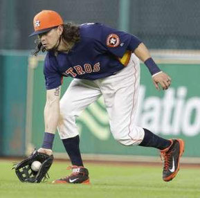Colby Rasmus (Photo: Melissa Phillip, Houston Chronicle)