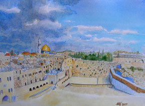 150$, Jerusalem,Watercolor, 30x40cm, 07-2009