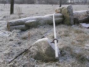 Zeitfenster (R. Ern) Februar 2012 - nun liegend. Der Zahn der Zeit, trockene Sommer  und der Sturm...