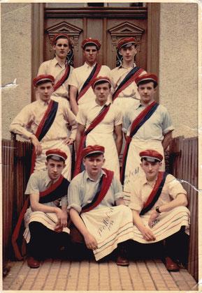 von oben links...Wilfried Meljor, Werner Schneider, Karl Döring, Heinz Seipp, Karl Meindl, Reinhold Wagner, Otto Dort, Werner Stephan, Kurt Balser