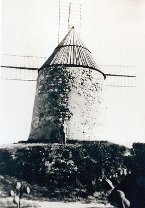 Le moulin Haut de Laurabuc. Son mécanisme se trouve au moulin de Cugarel à Castelnaudary
