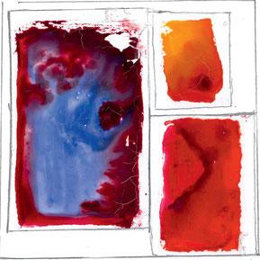 """Anne Lammers-Przybilke, """"…das Flüssige in die  Form bringen"""", 2020, Aquarellfarbe auf Folie"""