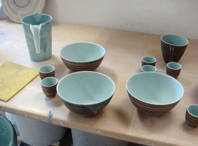 Glasierte Keramik