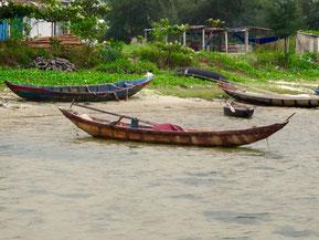die einfachen Fischer-Hütten