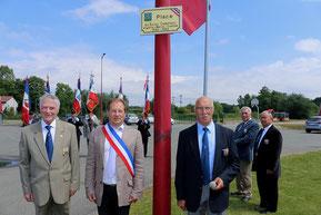 Mardi 24 juin 2014 ~ Inauguration de la place des Anciens Combattants Algérie-Maroc-Tunisie 1952-1962